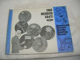1988 Mercury Merkur XR4Ti EVAC electrical vacuum wiring shop service manual - $16.31