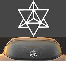 "6"" Merkaba Star Tetrahedron Sacred Geometry Spiritual Vinyl Decal Sticker - $6.95"