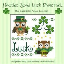 Hooties Good Luck Shamrock cross stitch chart Pinoy Stitch - $6.30