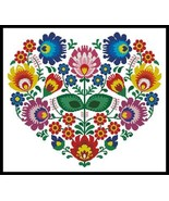 Polish Folk Heart cross stitch chart Artecy Cross Stitch Chart - $14.40