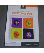 4 This is My Costume Halloween Lapel Button Pins Badges - $3.99