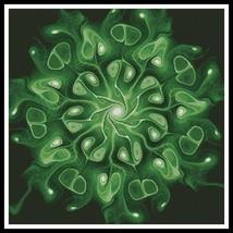 Green Abstract Flower cross stitch chart Artecy Cross Stitch Chart - $14.40