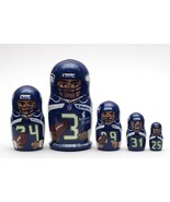 Seattle Seahawks nesting doll matryoshka babushka doll  5 pc, 6 inches - $59.90