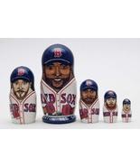 """Boston red sox nesting doll matryoshka, babushka doll 5 pc, 6"""" - $59.90"""