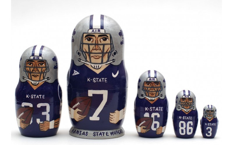 Kansas state wildcats nesting doll matryoshka babushka doll  5 pc, 6 inches