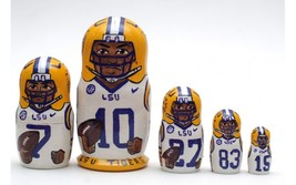 LSU Tigers nesting doll matryoshka babushka doll  5 pc, 6 inches - $59.90