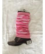 WJNS Leg Warmers Striped Pink White - $5.99