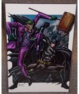 Batman vs The Joker Glossy Print 11 x 17 In Hard Plastic Sleeve - $24.99