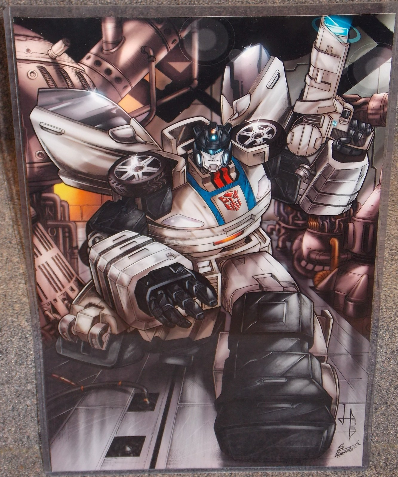 Primary image for Transformers Jazz Glossy Print 11 x 17 In Hard Plastic Sleeve