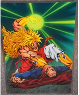 Dragon Ball Z Broly vs Superman Glossy Print 11 x 17 In Hard Plastic Sleeve - $24.99