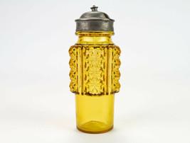 Adams Paragon Amber Mustard Preserve Castor Bottle Antique EAPG Paneled ... - $19.60