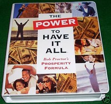 BOB PROCTOR - THE POWER TO HAVE IT ALL LIVE SEMINAR - 8 CD + 2 VHS  MSRP... - $98.88