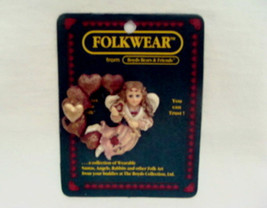 "Boyds Folk Wear ""Angelina...Key To My Heart"" Lapel Pin #26319  New  1998  Retired - $8.99"