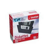 """IMATION 12881 3.5"""" Floppy Diskettes, IBM-Formatted, DS/HD, 10/Box - $21.77"""