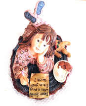"Boyds Dollstone ""Hannah.. Dear Santa"" #3575- 2E- New- No Box- 2001- Retired - $19.99"