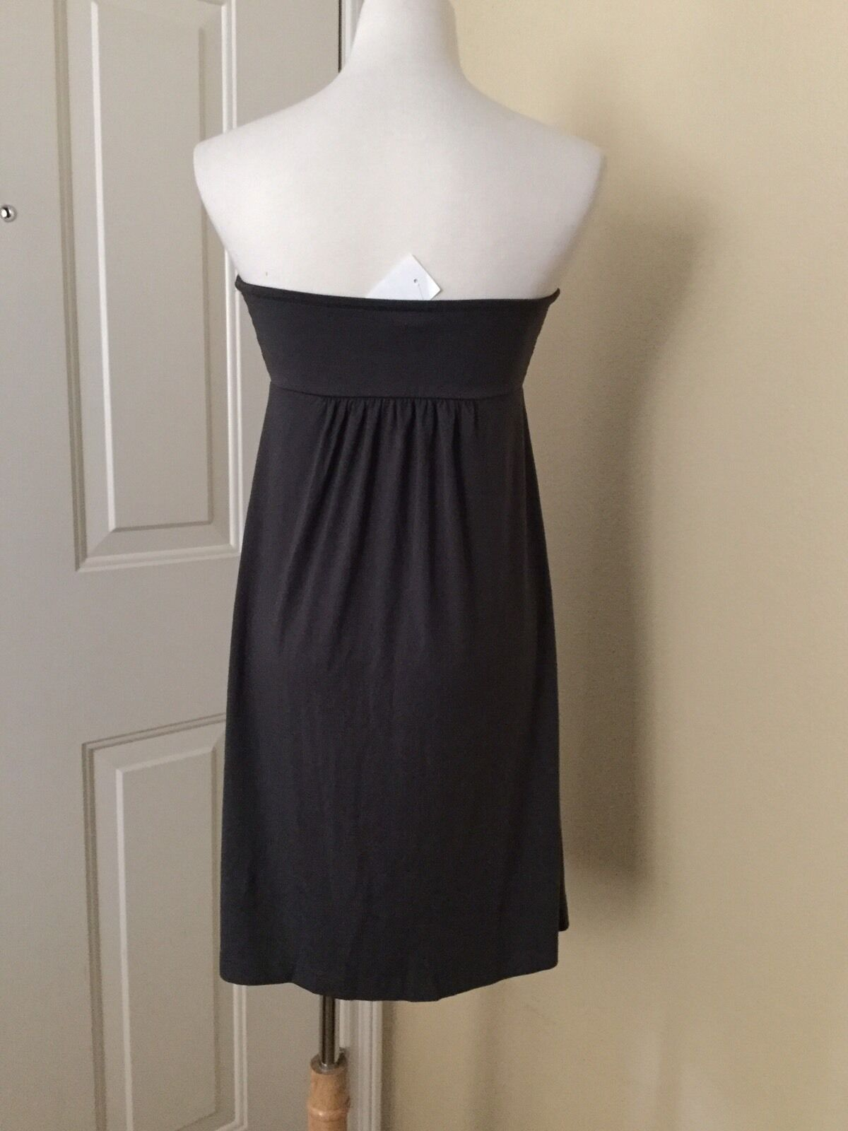NWT J.CREW Dressy Jersey Strapless Dress in Gray, Size Small image 2