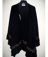 Embroidered Cape,wrap knitted of 100% Alpaca wool - $238.00