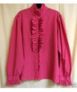 Pink Vintage Ruffled Blouse size 42 - $10.00
