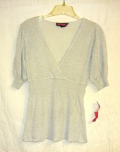 Saywhat? Gray/silver Shimmer Top Sz.m - $10.00