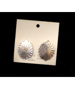 Carved Mother Of Pearl Oval Clip On Earrings - $10.00