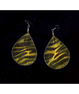 """Big 3 3/4"""" Silk Thread Leopard Pierced Earrings - $5.00"""