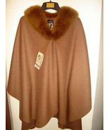 Poncho made of Baby Alpaca wool and fur trimming - $644.00