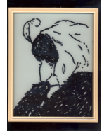 OLD HAG OR YOUNG WOMAN OPTICAL ILLUSION PAINTED ON GLASS - $10.00
