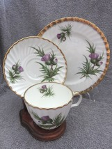BEAUTIFUL ADDERLEY TRIO CUP SAUCER PLATE THISTLE EXCELLENT! - $34.88