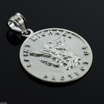 925 Sterling Silver Saint Michael Coin Pendant (Made in USA) - $19.99