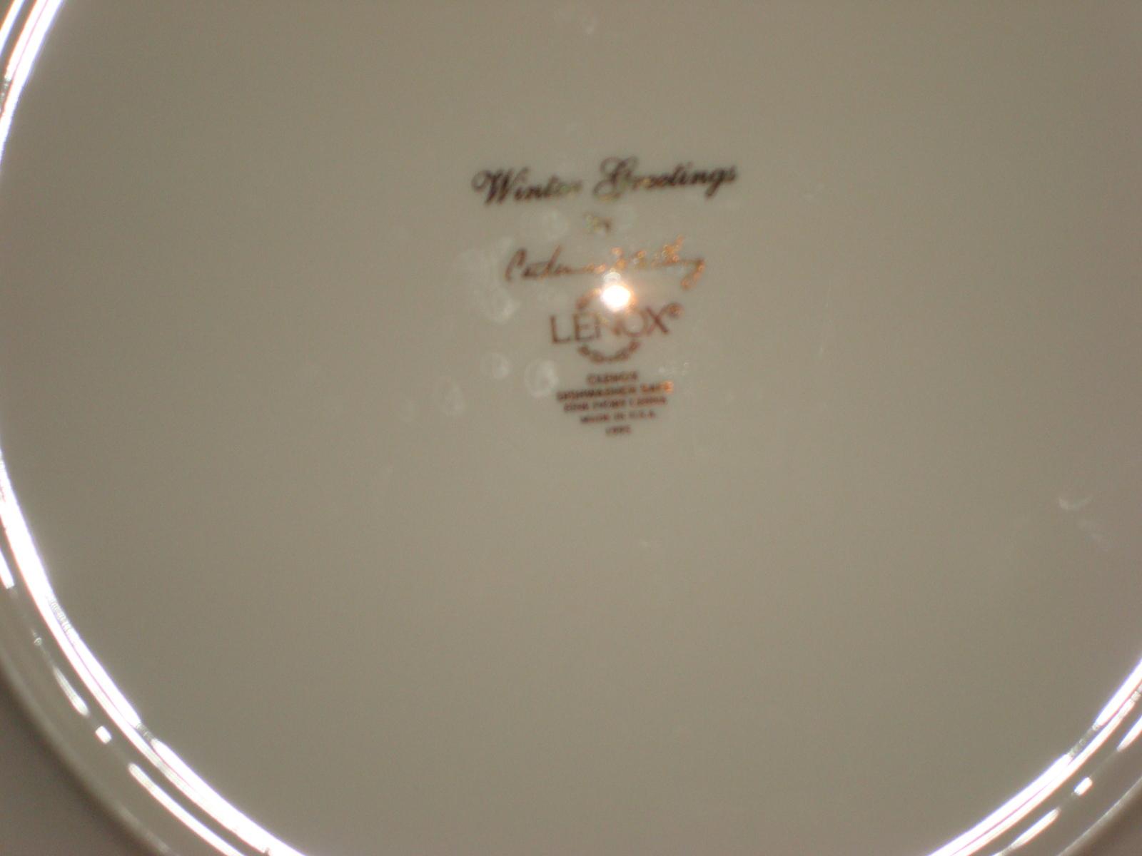 "Vintage Lenox China Urban Lights Dinner Plate ~ 10 3//4/"" Diameter"