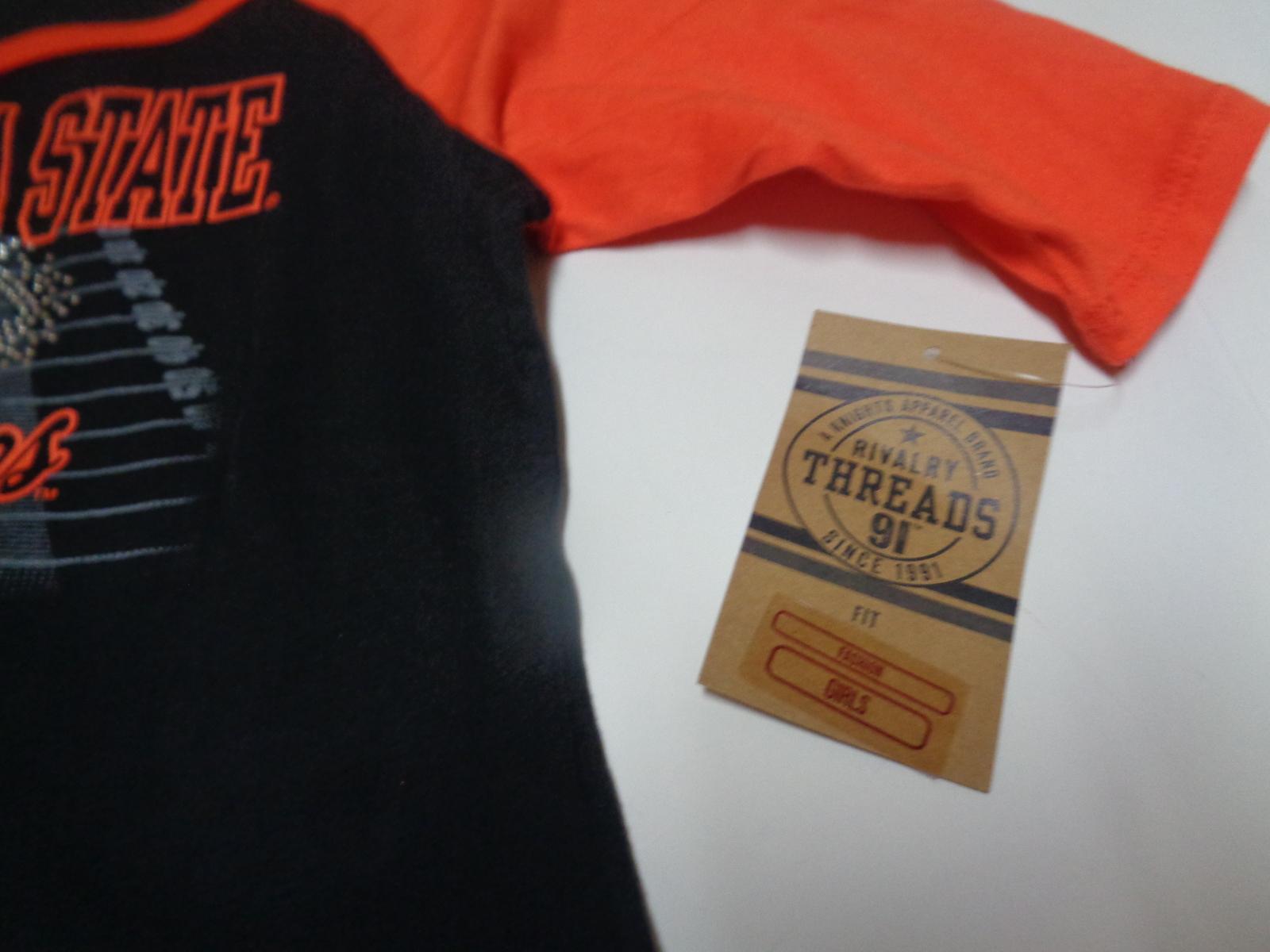 Oklahoma State University GO POKES T-Shirt NWT Girl's Youth 7/8 OSU