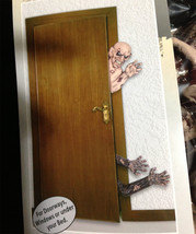 Creepy Life Size Dimensional ZOMBIE ATTACK Halloween Wall Door Prop Deco... - $49.47