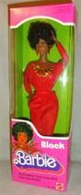 VINTAGE 1979 FIRST Black Barbie Doll Disco Afro Red Dress Mattel 1293 NE... - $37.11