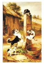 Baffled Walter Hunt Cat Dogs Haussner's Restaurant Baltimore MD Vtg Art ... - $4.74