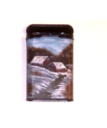Hand Painted Winter Homestead in Oils Vintage Prince Albert Can Home Dec... - $34.00