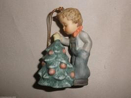 Goebel Berta Hummel Boy Topping The Tree Ornament #935100 - $14.85