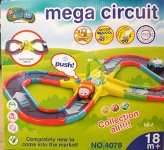 mega circuit toy car track battery operated - $19.99
