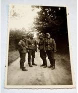 ORIGINAL WW2 GERMAN PHOTO: WAFFEN SS SOLDIERS ON DIRT ROAD - $18.00