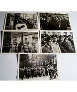5 ORIGINAL PRE WW2 GERMAN PHOTOS: NAZI MEN DURING PARADE - $15.00