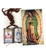 Laminated Prayer Card with Scapular - La Magnifica - L161.0089 - $3.36