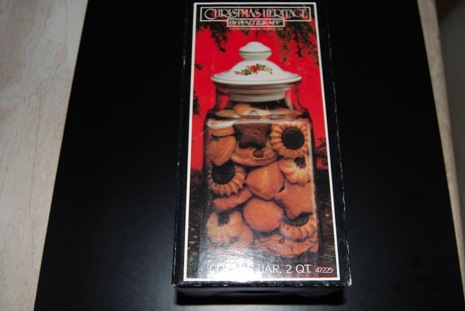 Christmas 2 QT. Cookie Jar by Pfaltzgraff - $4.95