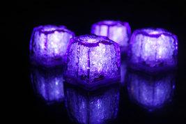 Set of 4 Jewel Litecubes Brand Amethyst Purple Light up LED Ice Cubes - $15.42 CAD
