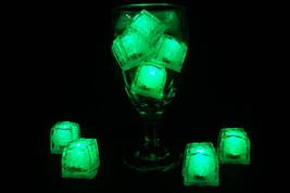 Set of 8 Jewel Litecubes Brand Emerald Green Light up LED Ice Cubes - $18.95