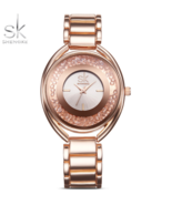 SK® Fashion Watches Crystal Diamond Dial Ladies Watch Golden Top Luxury ... - $25.24