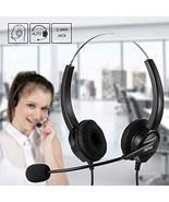 Ailink 2.5mm Dual Ear Call Center Telephone Headphone, 6FT Noise Cancell... - $12.13