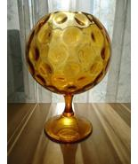 Italian Mid Century Gold Blown Glass Stemmed Bo... - $94.00