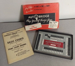 VINTAGE 1959 AUTOBRIDGE PLAY BRIDGE BY YOURSELF GAME w 48 HANDS  Complete! - $9.69