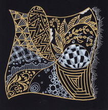 Akimova: THOUGHTS , fantasy, relaxing art, ink pen drawing - $4.50