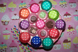 Cupcake Liners-Mini Polka- Cupcake &Candy Liners U-Pick Colors 6 Dozen 7... - ₨378.86 INR