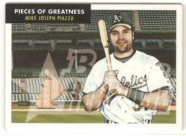 Mike Piazza Bowman Heritage 2007 #PG-MP Pieces of Greatness Game Used Ba... - $3.50